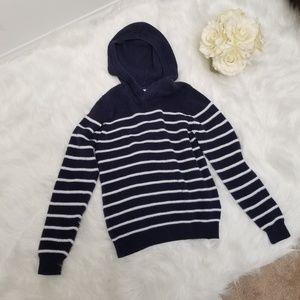 Hanna Anderson Navy & White Stripe Sweater 140